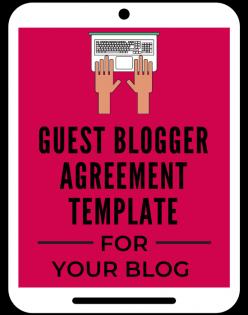 Guest Blogger Agreement Template from A Self Guru