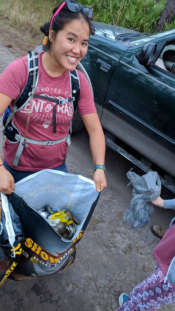 Leave No Trace: Pick up trash from the trails, Keep it clean!