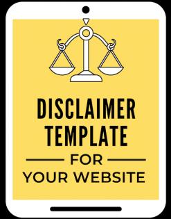 disclaimer template from a self guru