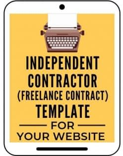 Freelance Contractor Template from A Self Guru