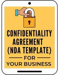 Confidentiality agreement from A Self Guru