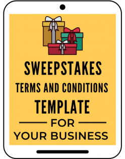 Sweepstakes Terms & Conditions Template A Self Guru