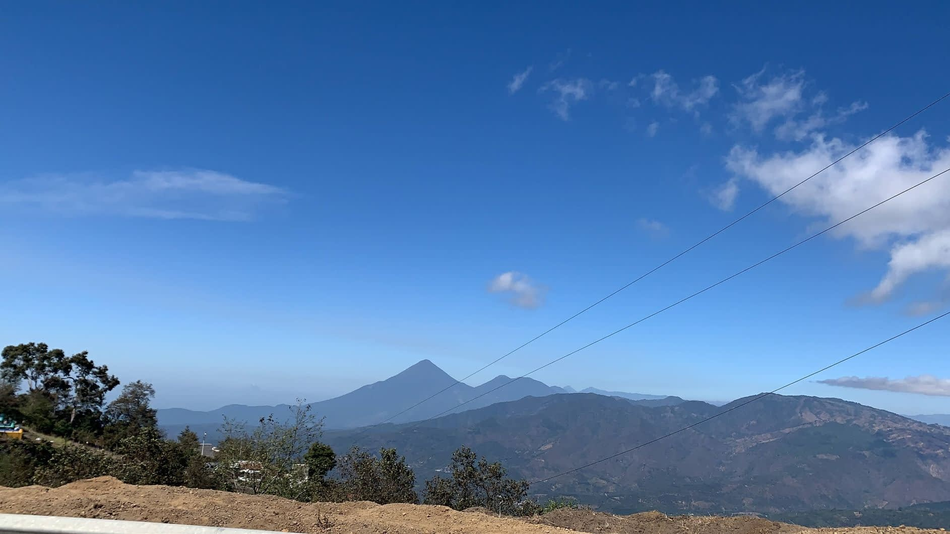 The view driving to Acatenango
