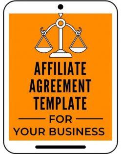 Affiliate Agreement Template A Self Guru