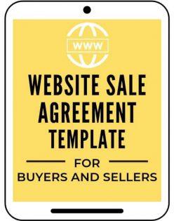 Website Sale Agreement Template A Self Guru