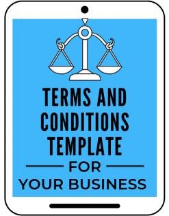 terms and conditions template from a self guru