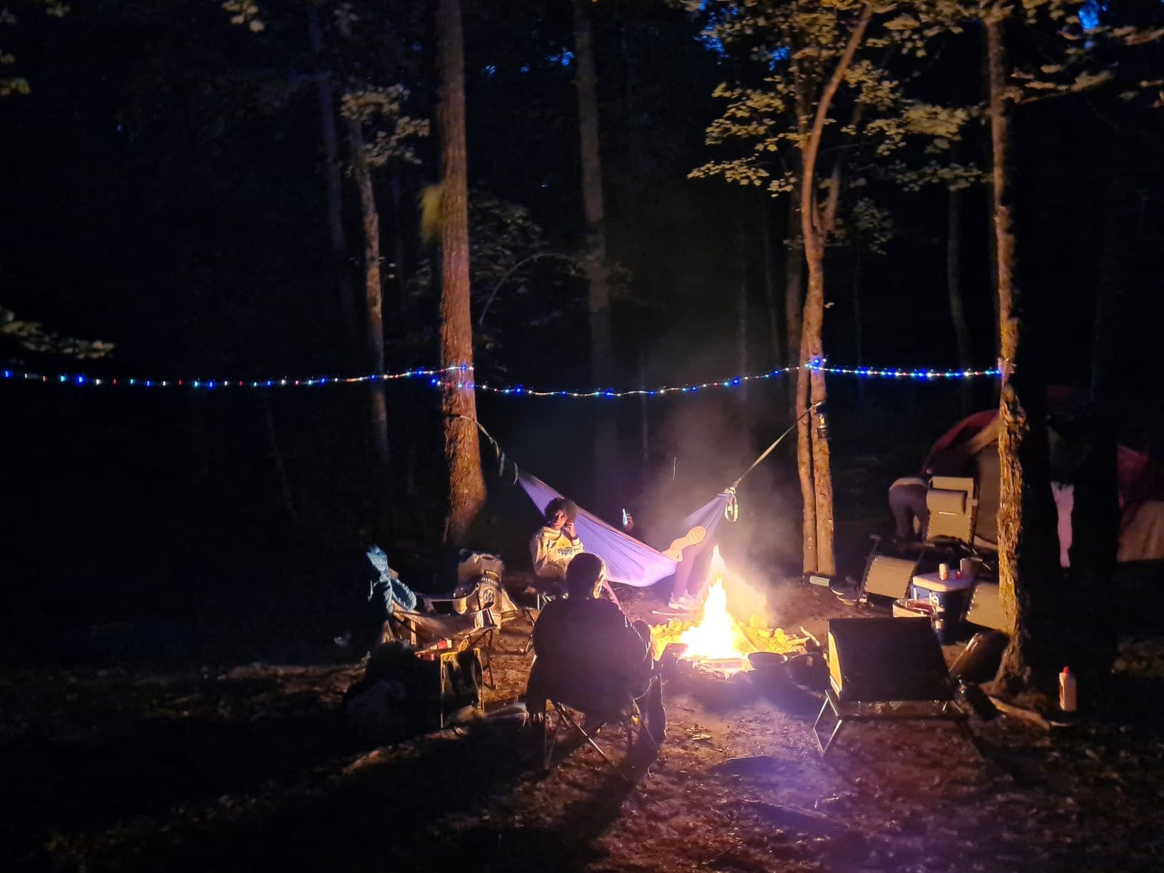 Twinkle lights camping in Tennesee
