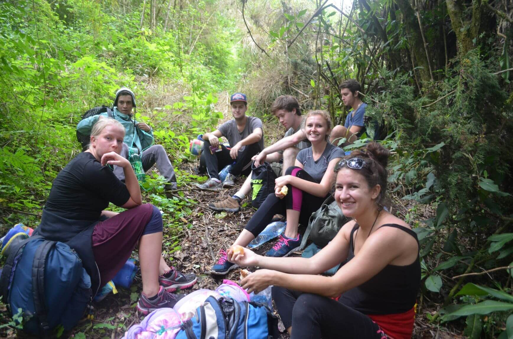 One of Many Breaks we Took on the way to the top of Acatenango Volcano