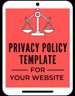 A self guru privacy policy template