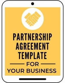 Partnership Agreement Template A Self Guru