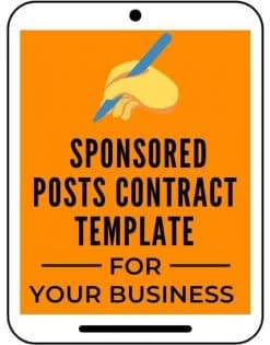 Sponsored Posts Contract Template from A Self Guru