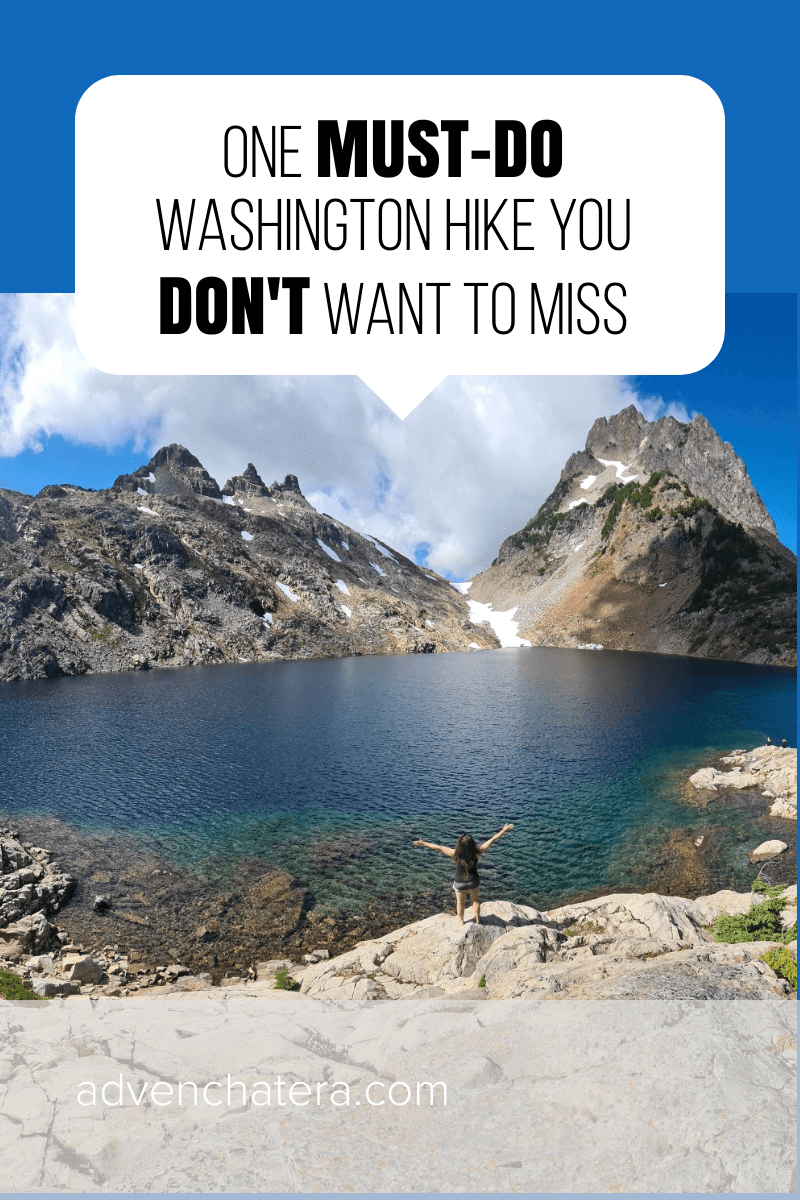 Getting ready to travel to Washington? Hiking is on your bucket list? Make sure to check out this unforgettable trail, it's definitely one you don't want to miss! I always want to go somewhere new, but I would repeat this hike ANY DAY. Add it to your list now and I highly suggest it as an OVERNIGHT hike. | Washington Travel | Travel Washington State | Hiking Washington State | Washington State Hikes | Seattle Washington Hiking | Hiking Trip #besthikes #hiking #washington via @advenchatera via @advenchatera