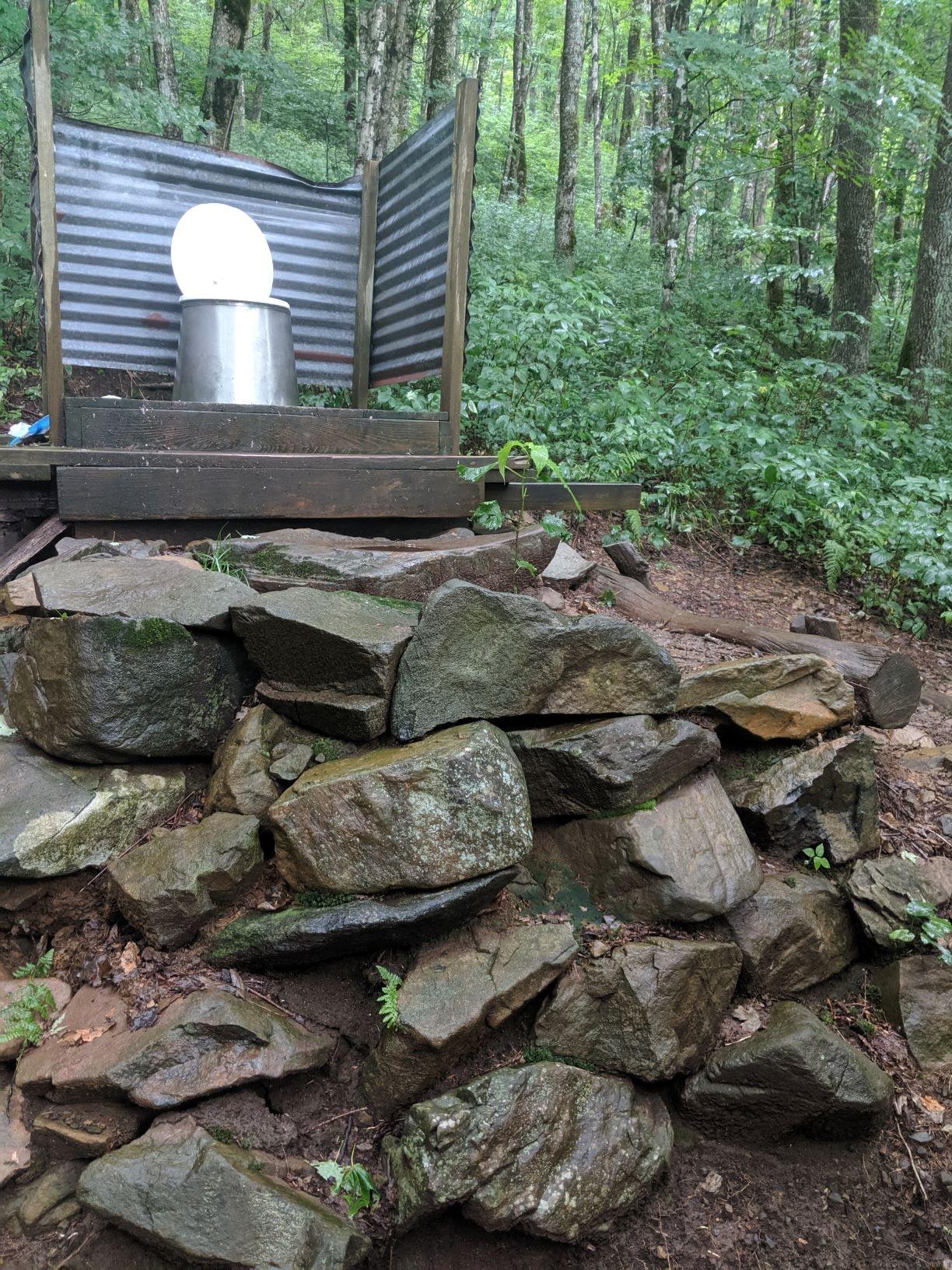 toilet at roan highlands