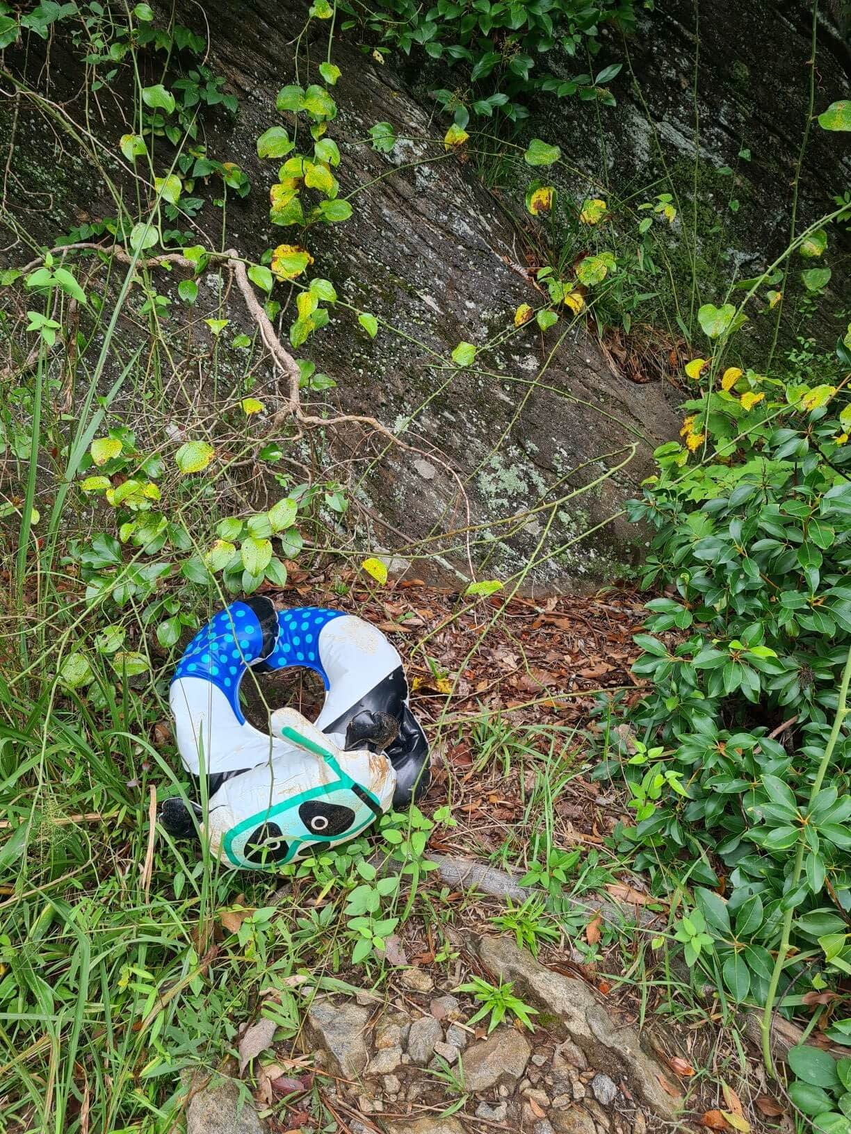 piece of trash found by the Chattahoochee river at east palasides trail