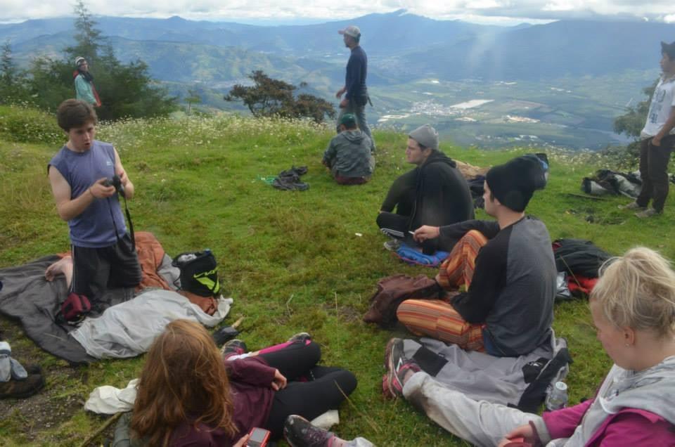 at the mirador on top of Volcano Acatenango